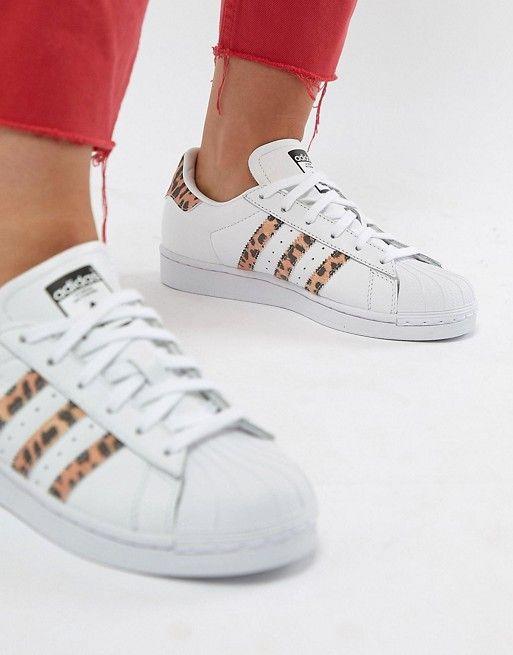 exclusive shoes official shop hot sale online adidas Originals – Superstar – Sneaker mit Leopardenmuster ...