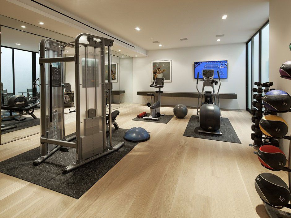 27 Home Gym Ideas To Get You Pumped With Pictures Small Chic Diy Decor Luxury Basement Workout Get Home Gym Flooring Gym Room At Home Home Gym Design