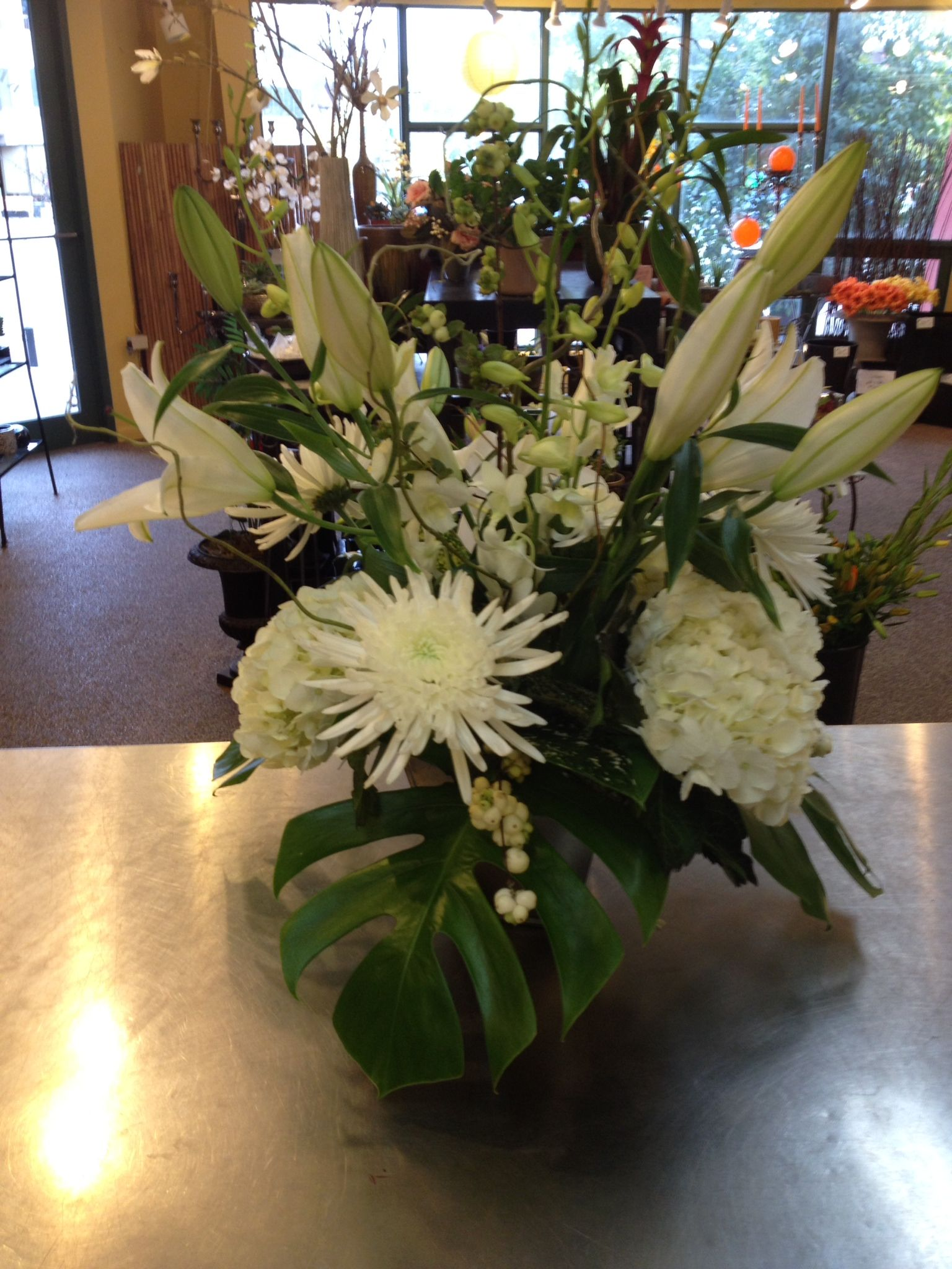 Spider Mums Hydrangea Casa Lilies Dendrobium Orchids Events And