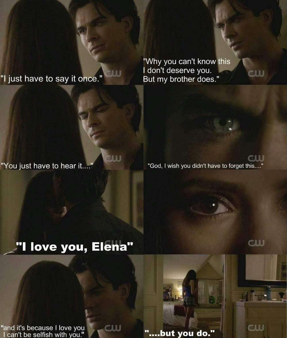 Quotes From Vampire Diaries Love  Damon Y Elena  Vampire Diaries  Vampire Diaries