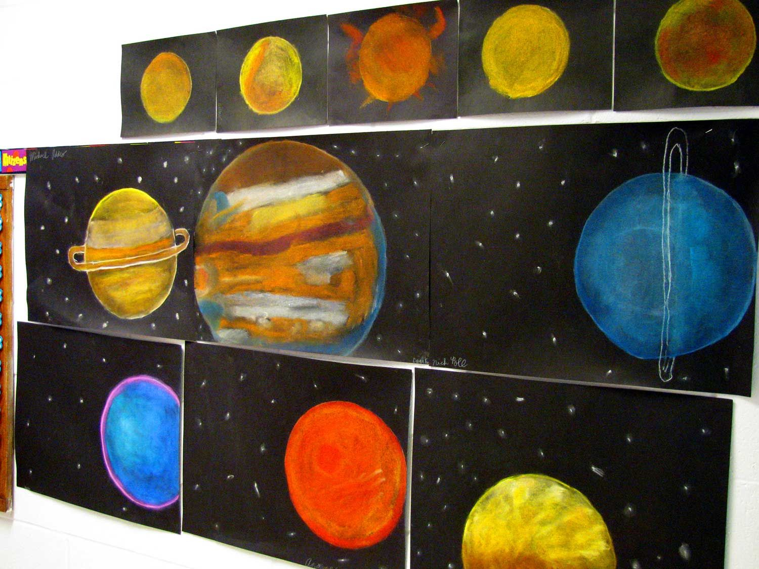 SCIENCE - SOLAR SYSTEM - PASTEL PLANETS | Elementary Art ...
