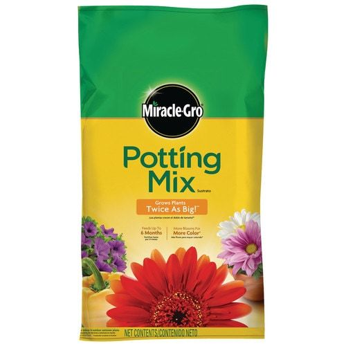 Shop Miracle-Gro All Purpose Potting Mix 25-Quart Potting Soil Mixundefined at Lowe's.com. Your plants want to show off. Give indoor and outdoor container plants the right ingredients to grow bigger and more beautiful with Miracle-Gro potting mix.