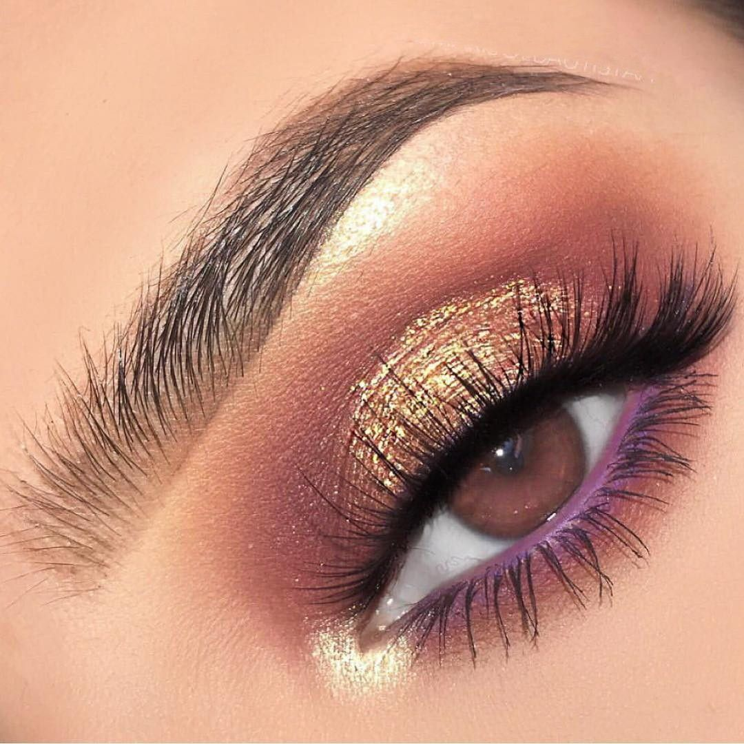 2020 的 52 Best Gold Eye Makeup Looks and Tutorials 主题