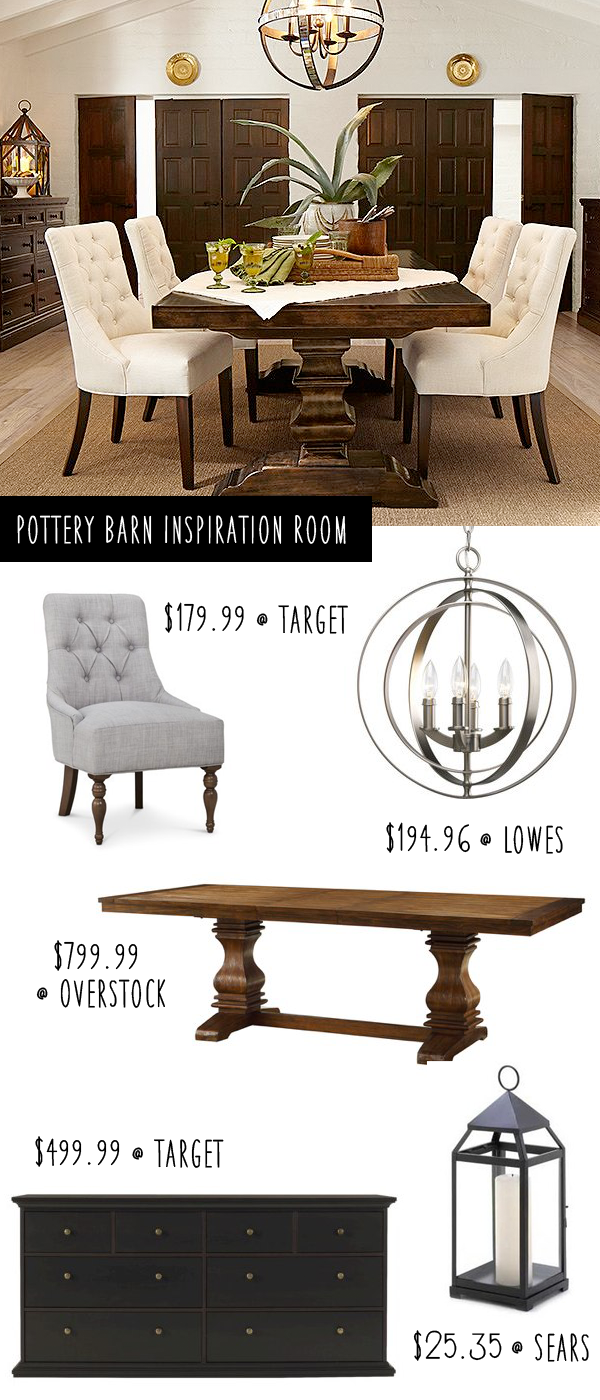 Pottery Barn Inspiration Dining Room On A Budget Pottery Barn Dining Room Dining Room Table Dining Room Decor