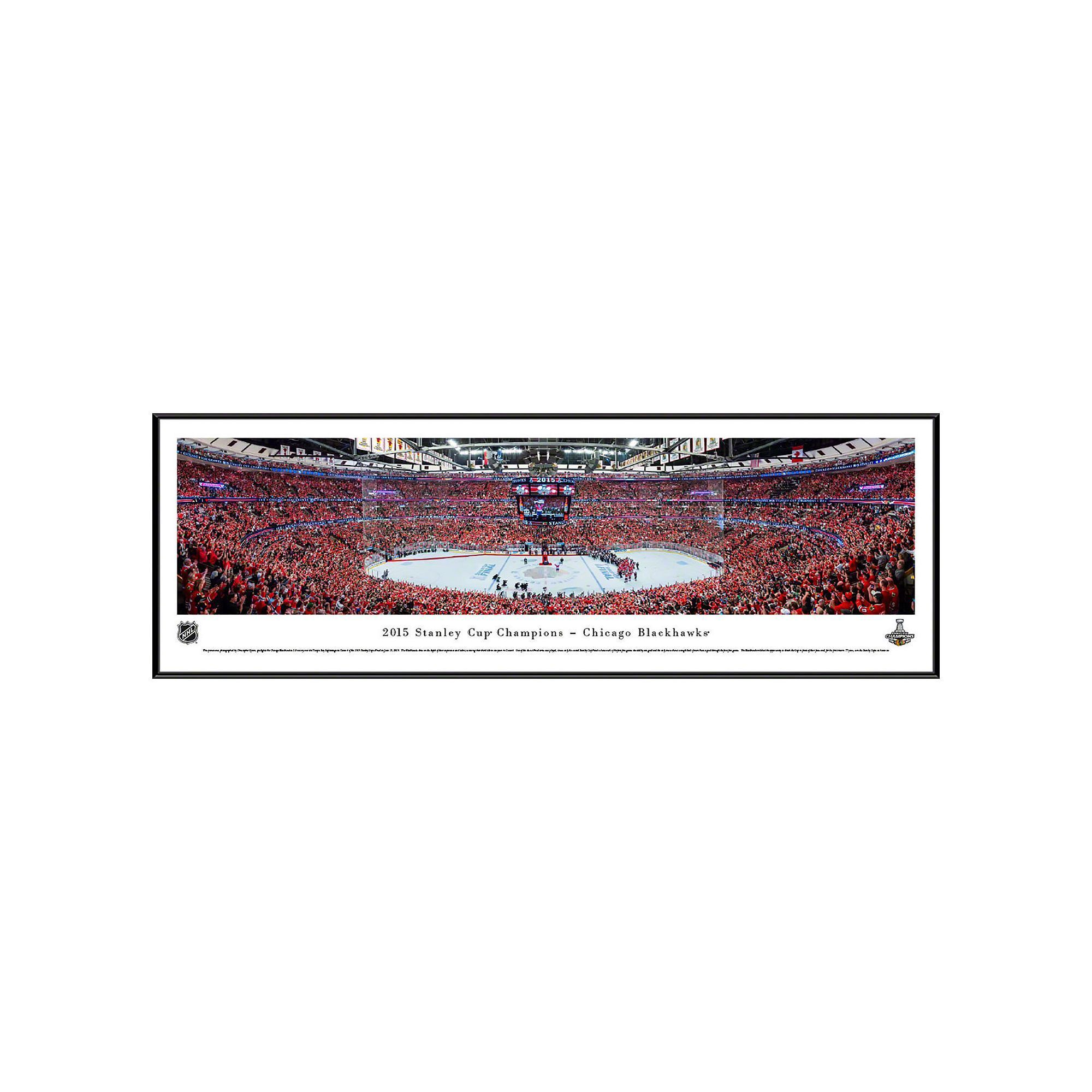 Chicago Blackhawks Hockey Arena 2015 Stanley Cup Champions Framed ...