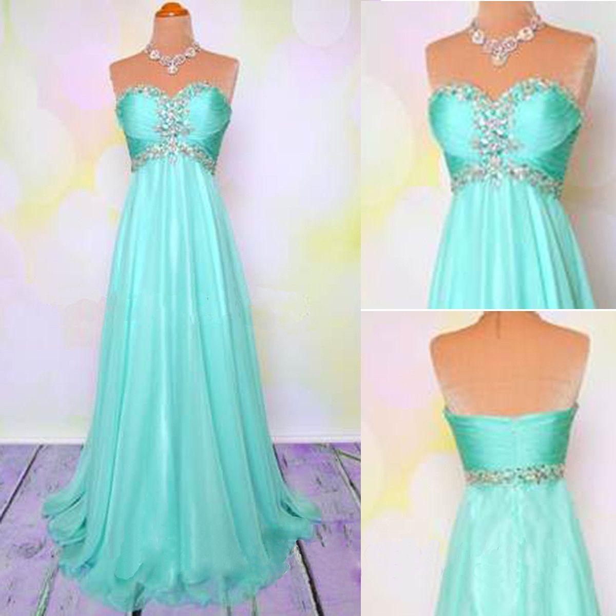 Junior pretty blue sweet heart a line cheap long prom dresses wg