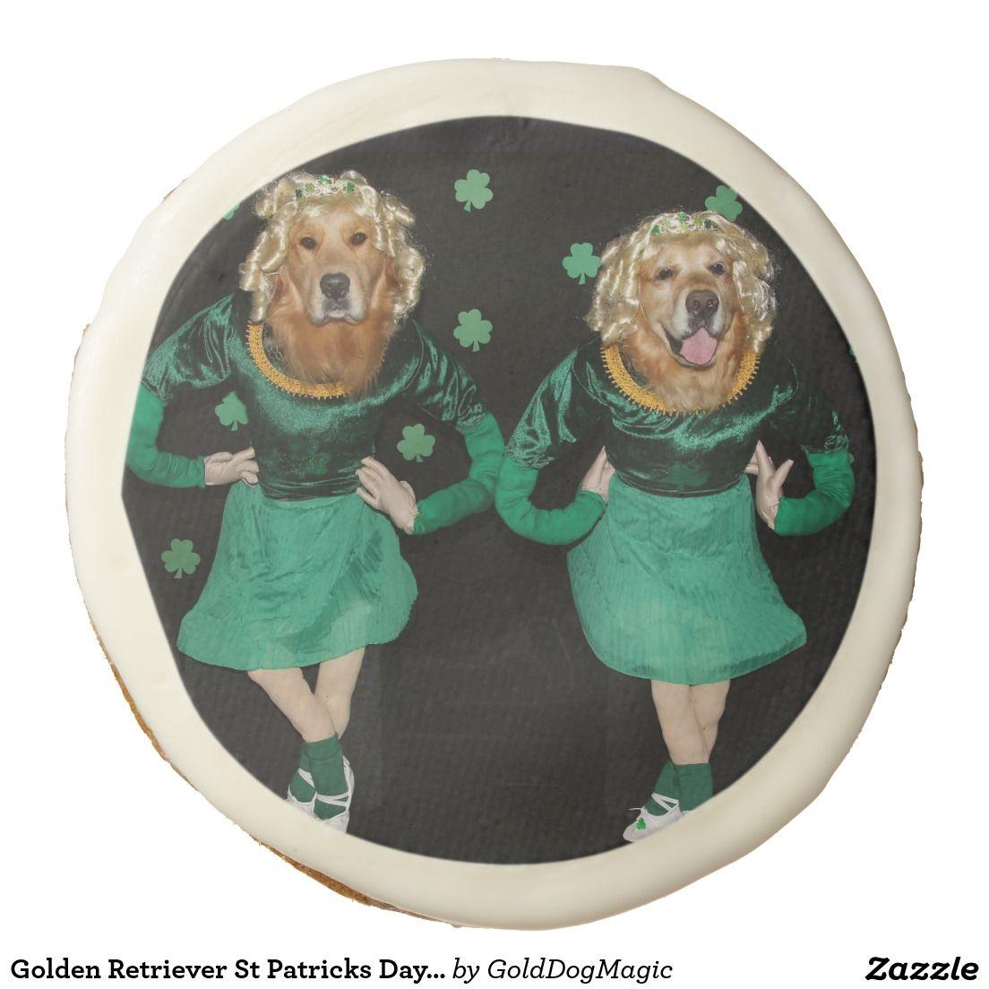 Golden Retriever St Patricks Day Irish Stepdancers Sugar Cookie