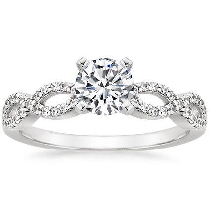 The Infinity Diamond Engagement Ring