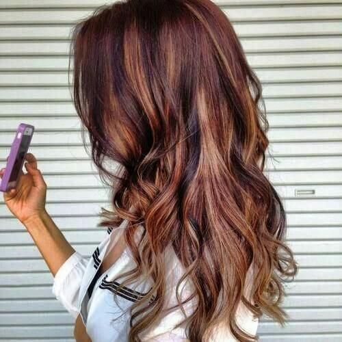 Brown hair with blonde and red highlights hair pinterest red brown hair with blonde and red highlights pmusecretfo Gallery