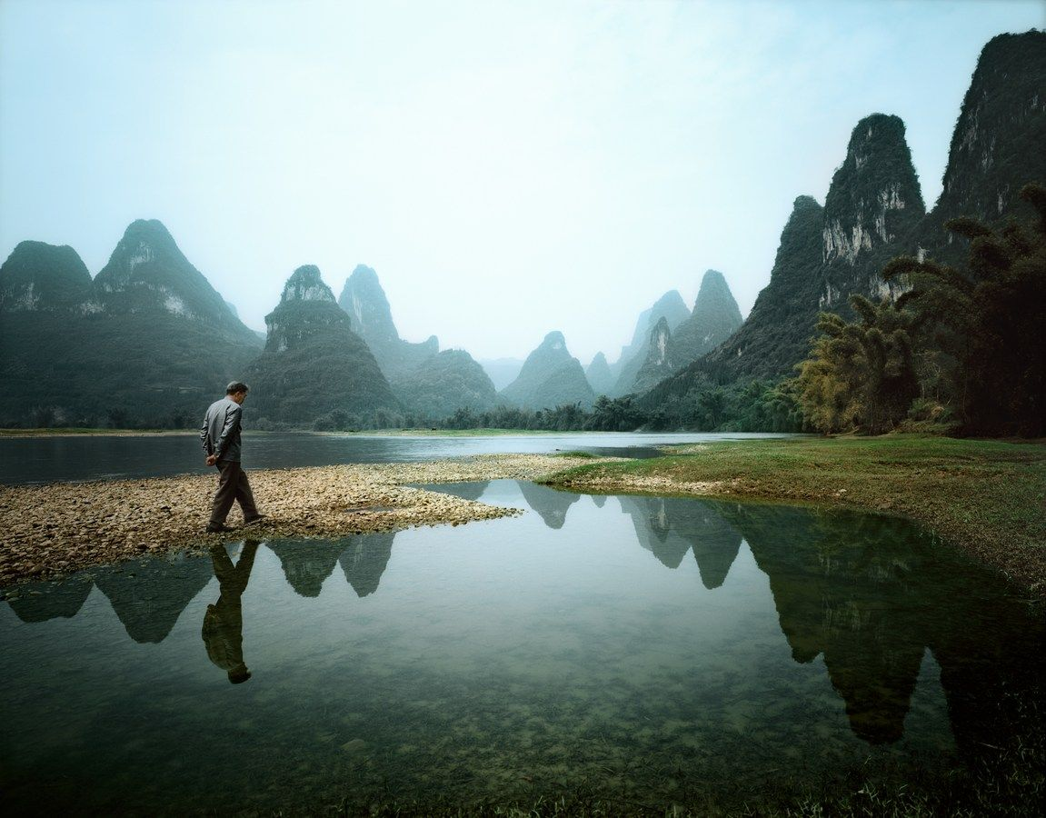 Man walking, Guilin -