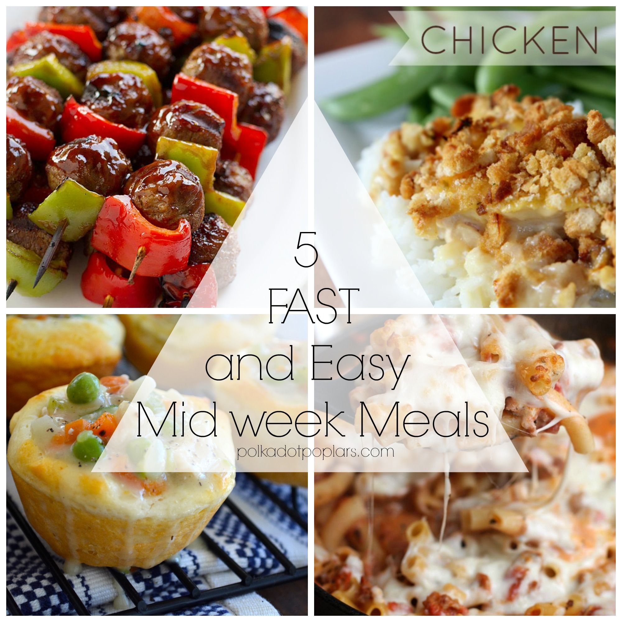 Easy midweek suppers recipes