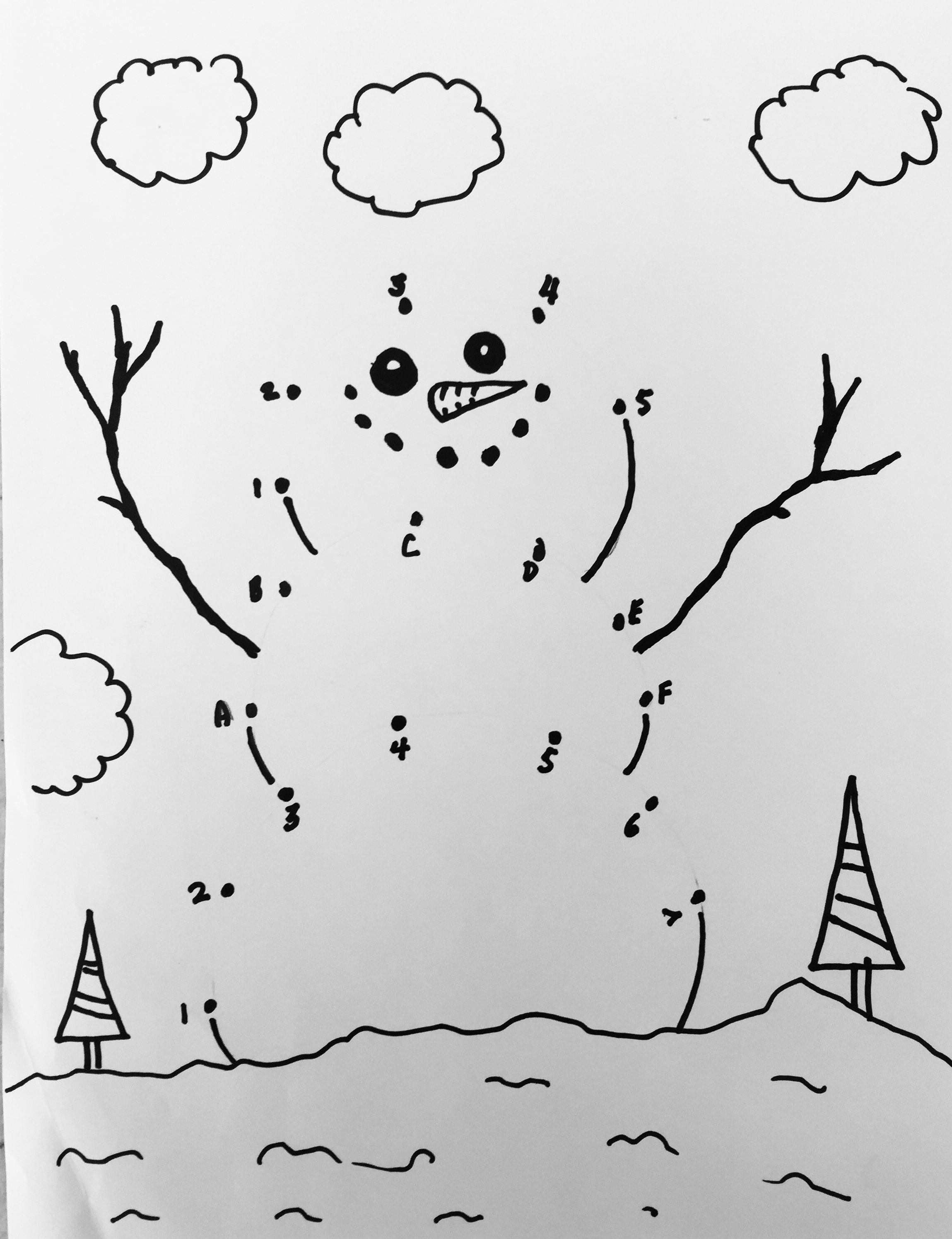 Snowman Dot To Do By Chris Frazier