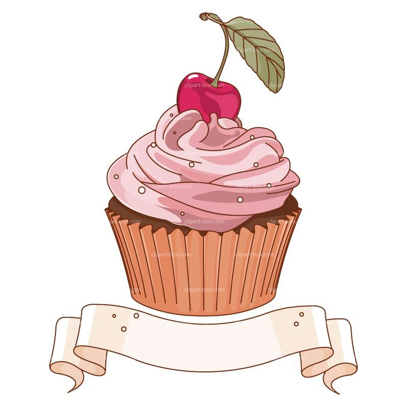 Clipart Cupcake Banner Royalty Free Vector Design | Drawing ...