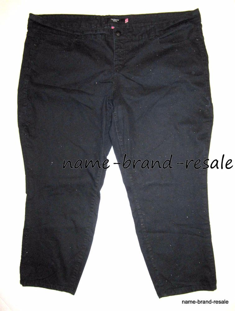 1eca9a40ec53e TORRID PLUS Size 28 4X SKINNY Dark Denim Glitter JEANS Stretch Slimming  Sparkly #Torrid #Skinny