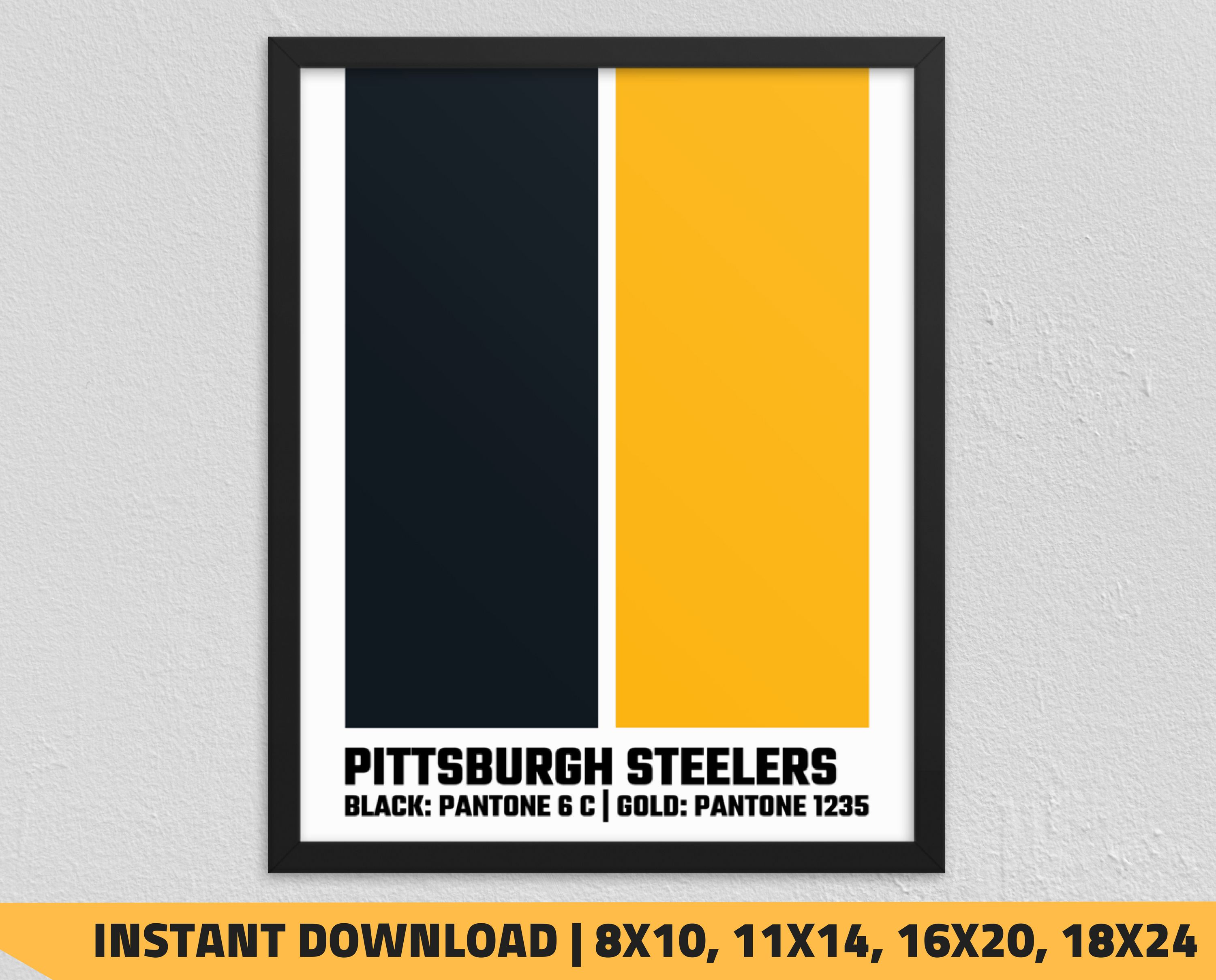8a0cd36adb8 Printable Pittsburgh Steelers Pantone Poster