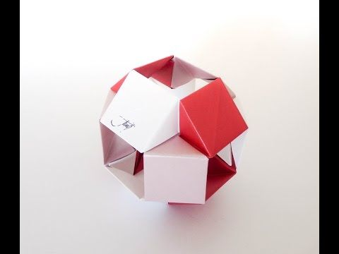 Modular Origami - How to make Modular Hyper Cube Origami (Version 1.0) - YouTube
