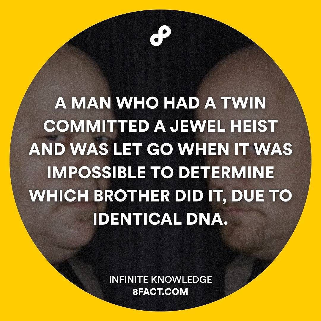 The perk of having a twin... lol #8fact by 8factapp