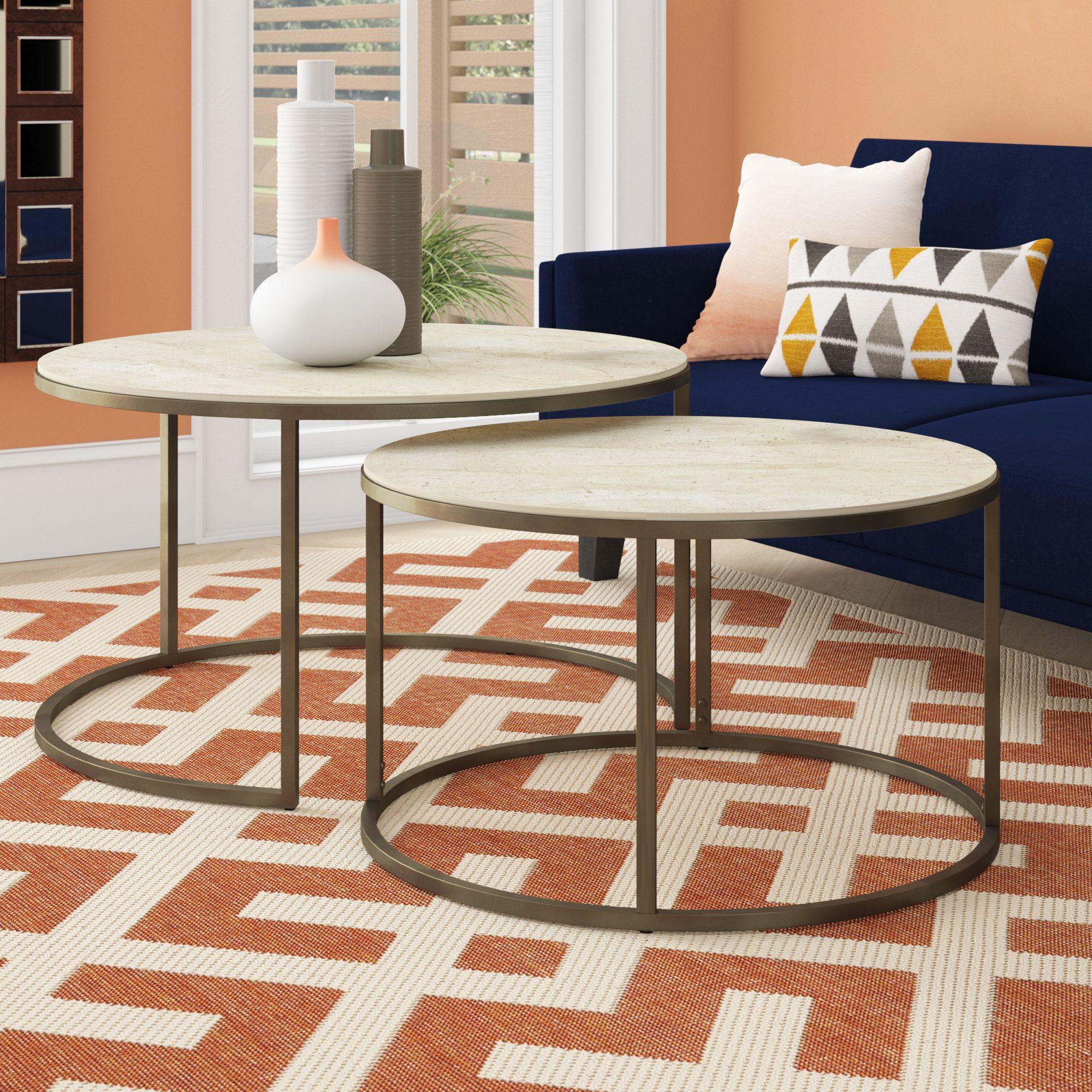 Masuda 2 Piece Coffee Table Set Coffee Table Stone Coffee Table Furniture [ 2000 x 2000 Pixel ]