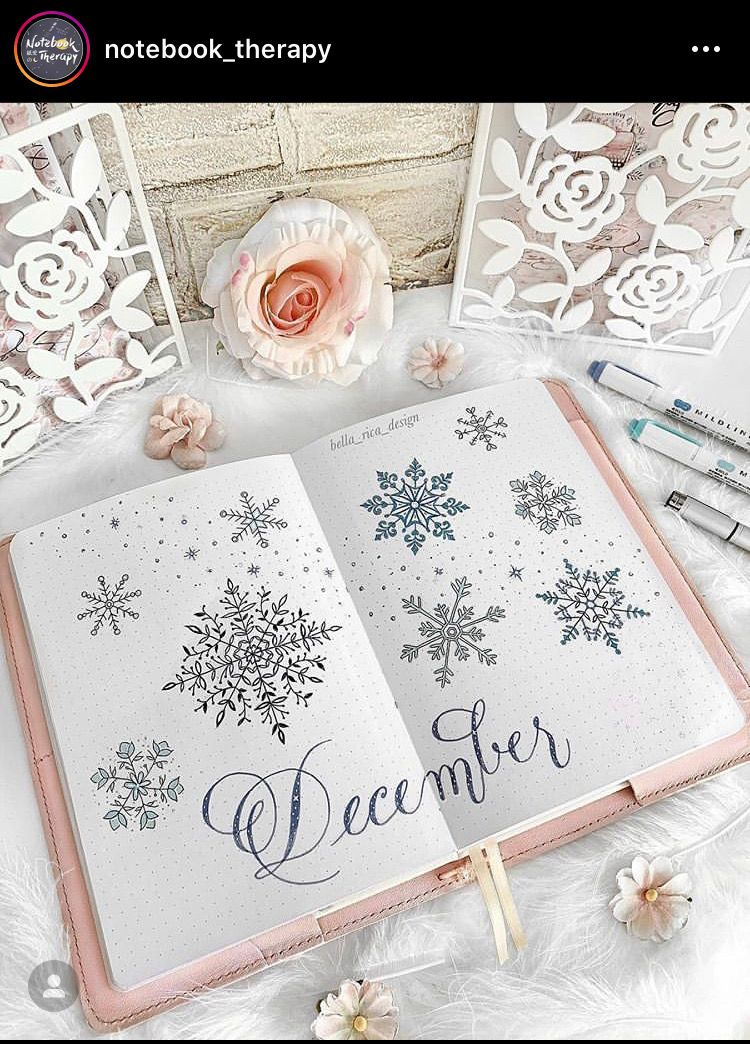 20 Winter Wonderland Inspired Bullet Journal Spreads