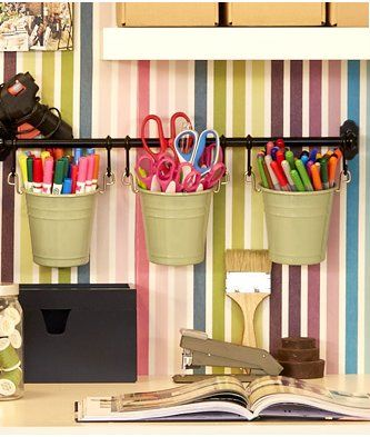 office storage solution. Workplace And Storage Ideas///Pen + Scissors Caddies A Rail Cutlery Caddy Office Solution G