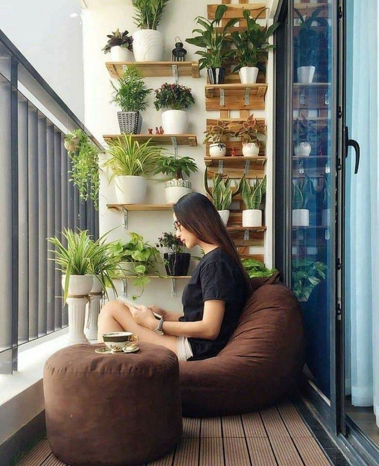✔37 small balcony garden ideas inspiration for home and apartment 21 -   15 plants Balcony house ideas