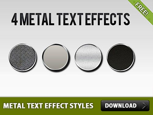 metal styles photoshop