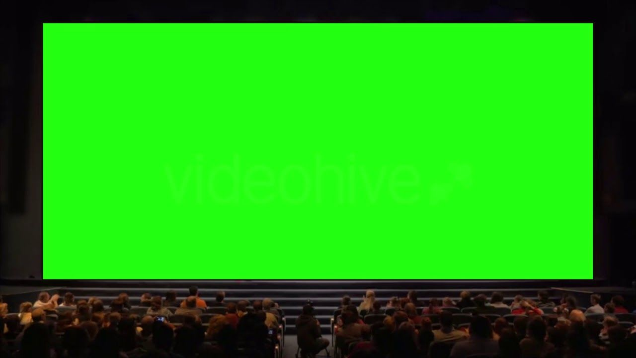 People In Auditorium Greenscreen Greenscreen Green Screen Footage Smoke Animation