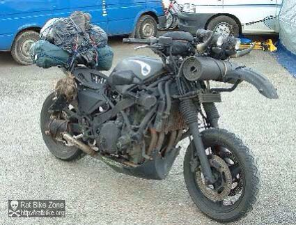 Survival Motorcycle Rat Bike Expedition Vehicle Motorcycle
