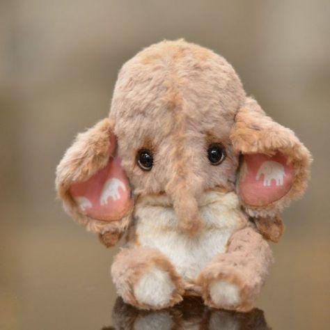 Elephant Lonny - OOAK 5,2'' / Teddy Bears & Pals / Teddy ...