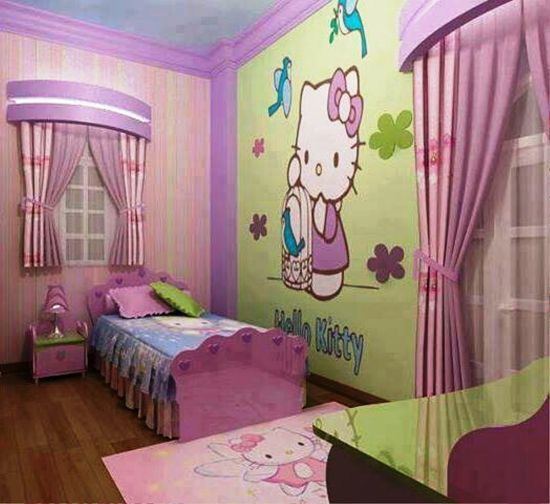 Hello Kitty Bedroom Ideas Decor Design Diy Offices Kids For Teens Girls Furniture Paint Set Hello Kitty Bedroom Hello Kitty Bedroom Decor Cat Bedroom