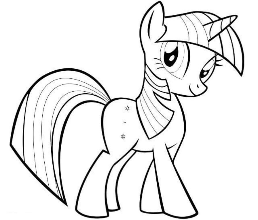 print twilight sparkle my little pony friendship is magic coloring