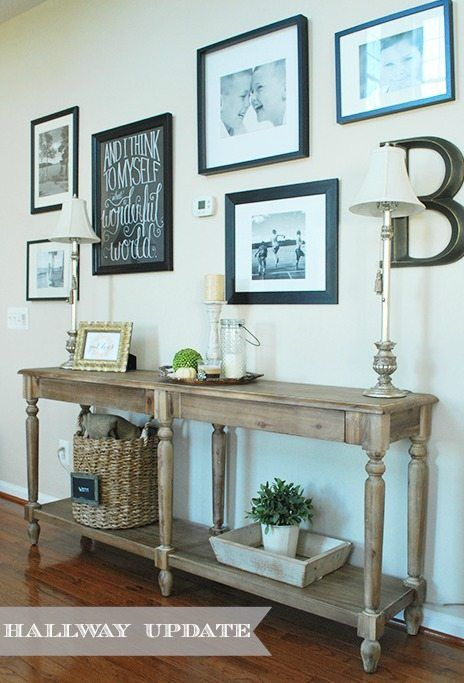 Superb An Easy Gallery Wall And World Market Everett Console Table Fill An Empty  Hallway.