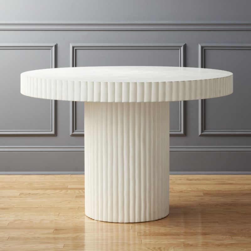 Scallop Ivory Table TS Canal Club Entry Table And Plants