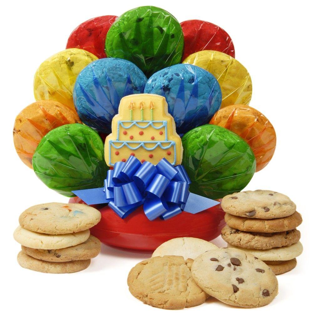 Birthday Cake Cookie Bouquet- A Three Layer Birthday Cake