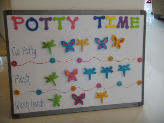 Potty Chart - your child will love learning to go on the big potty ...