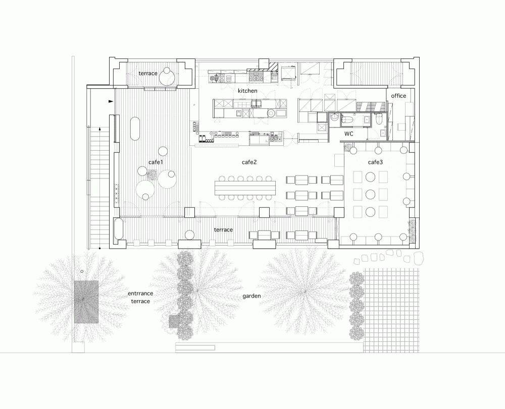 Gallery Of Blue Bottle Coffee Aoyama Cafe Schemata Architects 8 Cafe Floor Plan Metal House Plans Garage Floor Plans