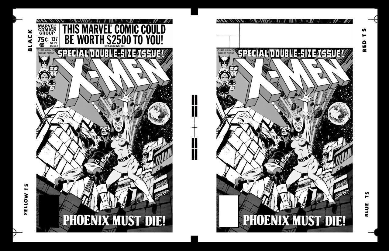 John Byrne X Men 137 Cover Rare Large Production Art Two Up Ebay Art John Byrne Classic Artwork