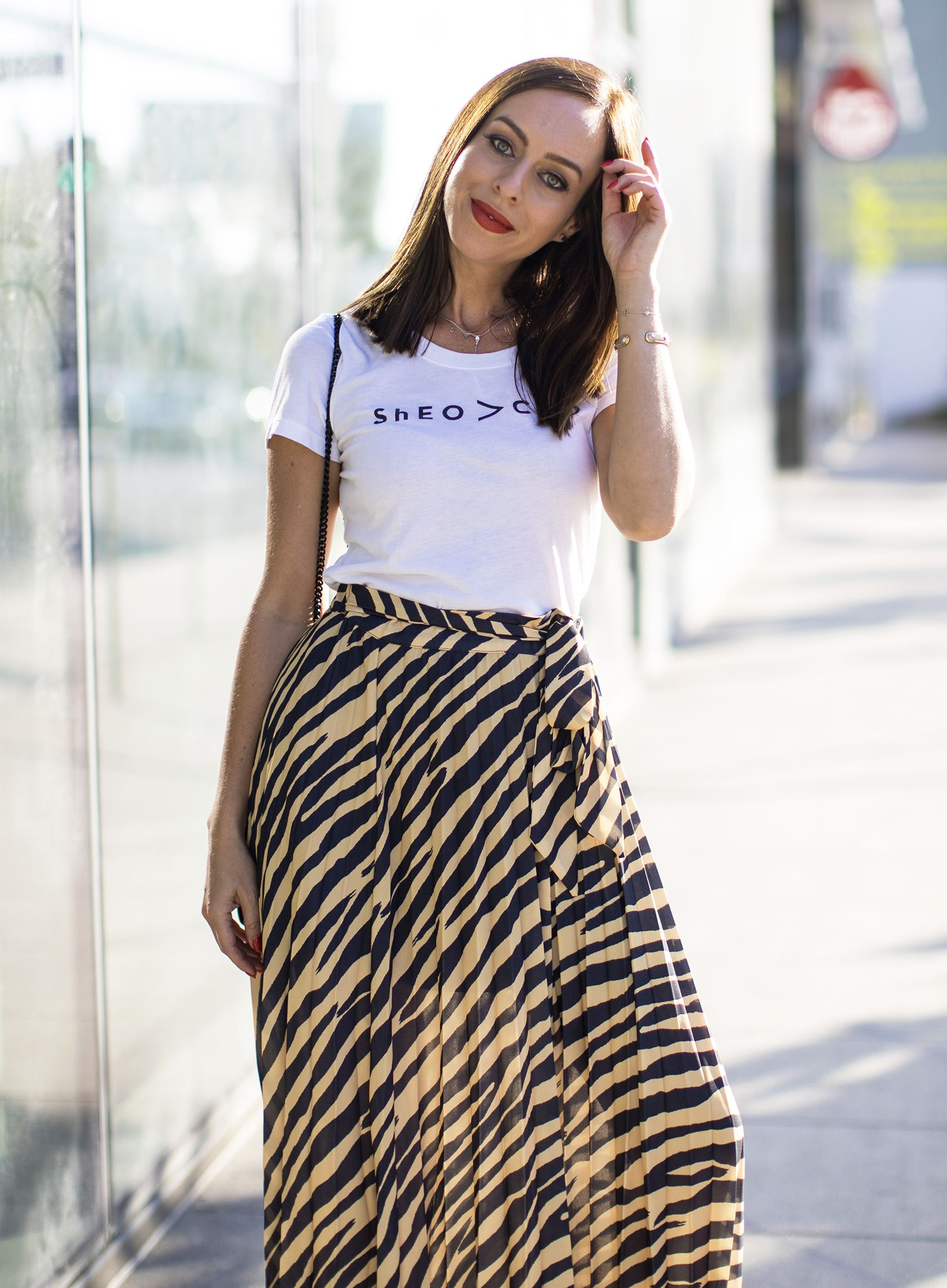 4d5c0f585b4e Sydne Style wears milly ceo tee #zebra #skirts #tees #tshirt #graphictee