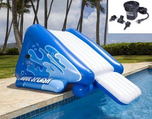 Blow Up Pool Slides For Inground Pools Google Search Swimming