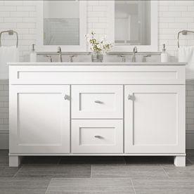 diamond freshfit palencia 60 in white bathroom vanity on lowes vanity id=51912