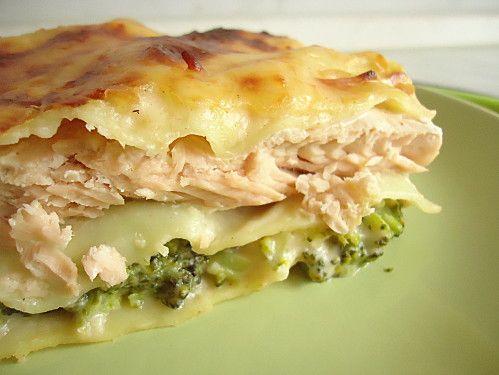 Lasagnes au saumon et brocolis