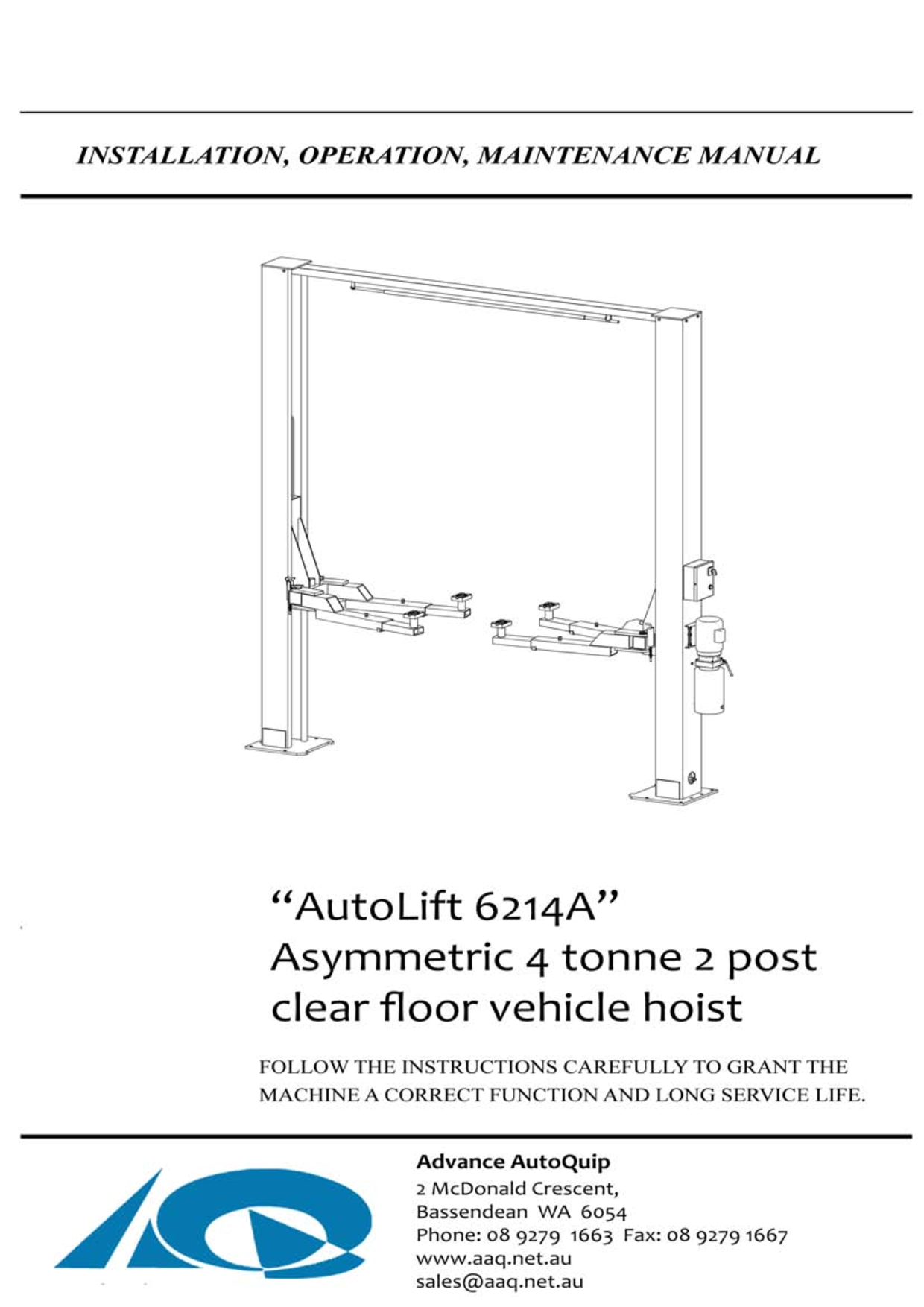 4 post car lift wiring diagram [ 1240 x 1754 Pixel ]