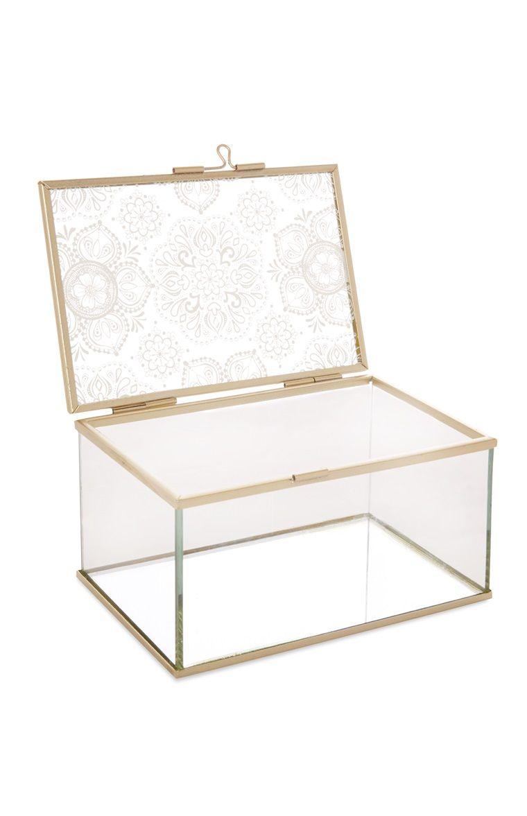 Primark Glazen sieradenkistje Glass Jewellery Box