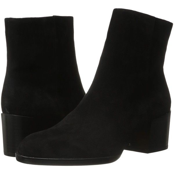 dc8b9d3911bc86 Sam Edelman Joey (Black Suede) Women s Zip Boots ( 80) ❤ liked on ...