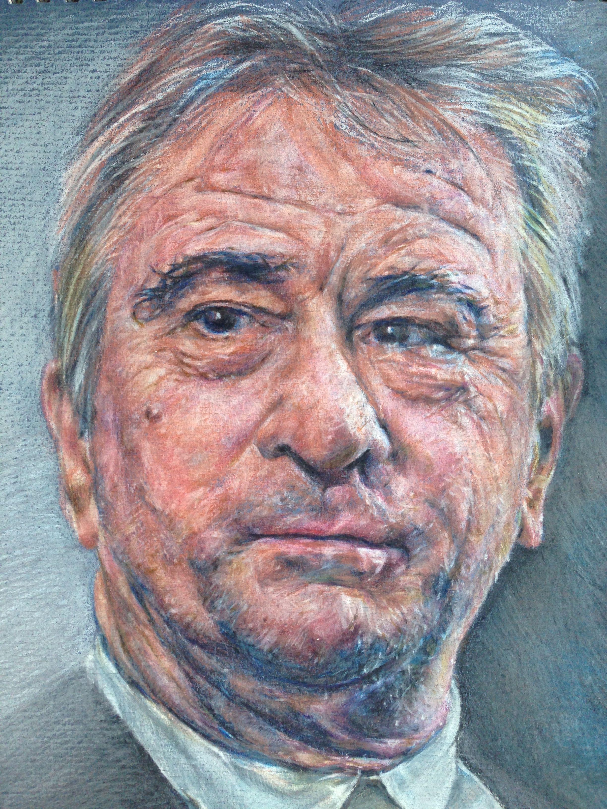 Robert De Niro - pastel on paper - for sale