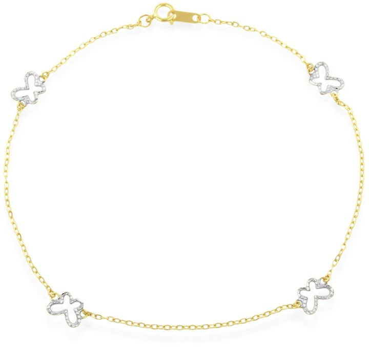 rope yellow anklet made gold diamond chain machine cut large search