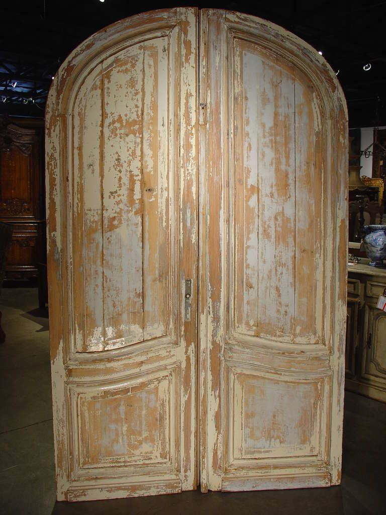 Antique French Doors | Pair Of Antique Painted French Doors Ca. 1880 At  1stdibs