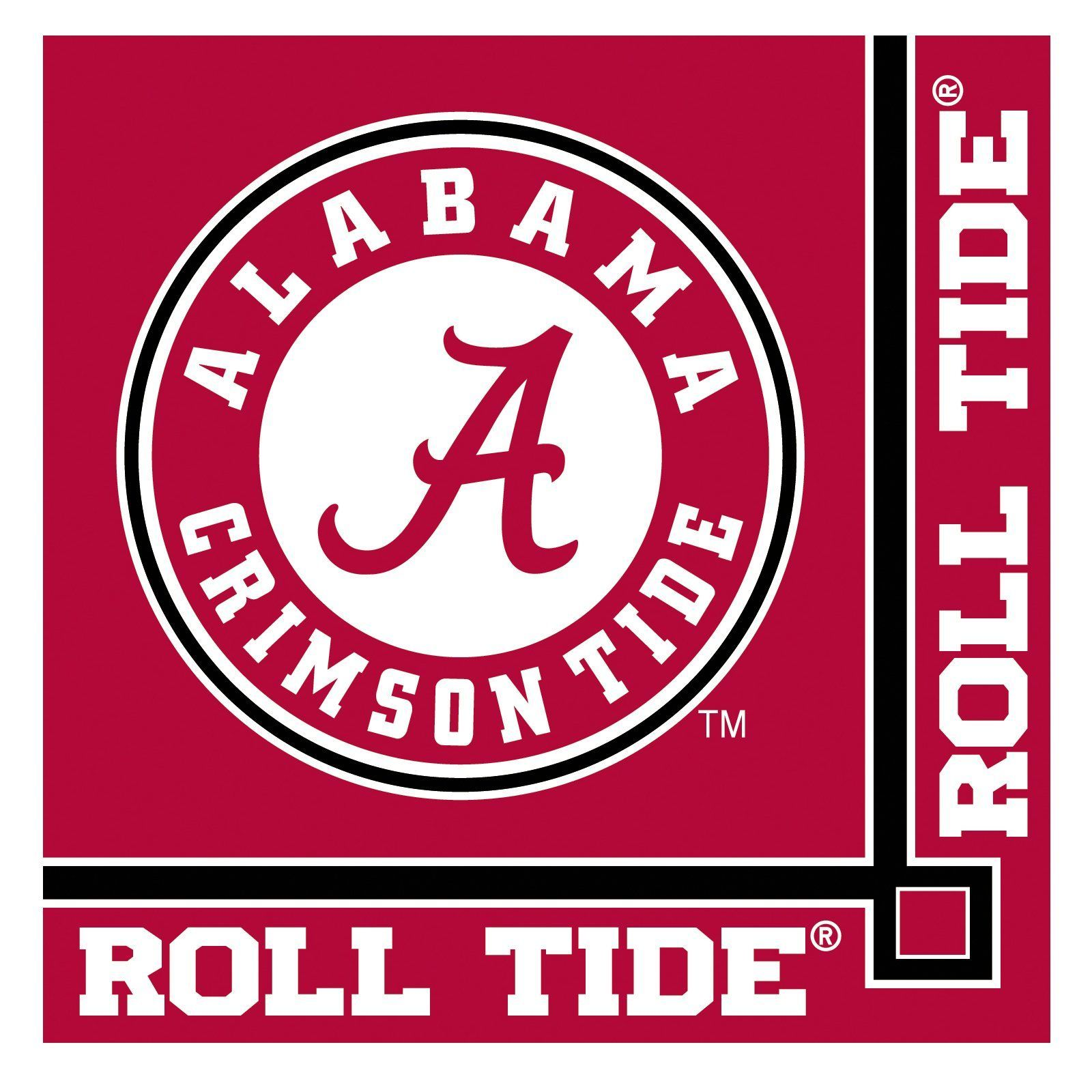 NCAA BCS Various Sizes Free Ship! Alabama Crimson Tide Decal//Sticker Roll Tide