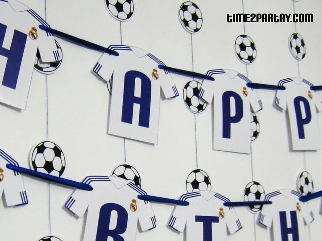 Real Madrid Soccer Football Birthday Party Ideas Soccer Real