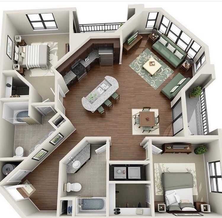 Pin By Jeremy Bearson On Architecture Sims House Plans House Plans Apartment Layout
